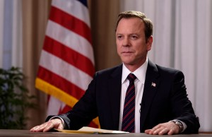 "DESIGNATED SURVIVOR - ""Pilot"" - Kiefer Sutherland stars as Tom Kirkman, a lower-level cabinet member who is suddenly appointed President of the United States after a catastrophic attack on the U.S. Capitol during the State of the Union, on the highly anticipated ABC series ""Designated Survivor,"" airing WEDNESDAY, SEPTEMBER 21 (10:00-11:00 p.m. EDT). (ABC/Ben Mark Holzberg) KIEFER SUTHERLAND"