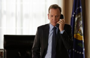 "DESIGNATED SURVIVOR - ""The Enemy"" - Kirkman learns who is behind the attack and needs to grapple not only with the prospect of war, but brewing domestic troubles as well. Kirkman taps Emily to monitor the domestic situation, while Alex may be in for more than she bargains for when she seeks out help from Hookstraten, on ABC's ""Designated Survivor,"" WEDNESDAY, OCTOBER 12 (10:00-11:00 p.m. EDT). (ABC/Ben Mark Holzberg) KIEFER SUTHERLAND"