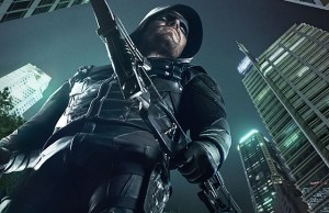 Arrow -- Image Number: AR_S5_KEYART.3000.jpg -- Pictured:  Stephen Amell as Green Arrow -- Photo: Frank Ockenfels III/The CW -- © 2016 The CW Network, LLC. All rights reserved.