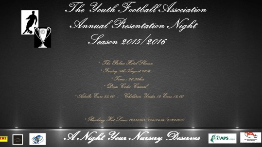 Prsentation Night Poster Season 2015-2016