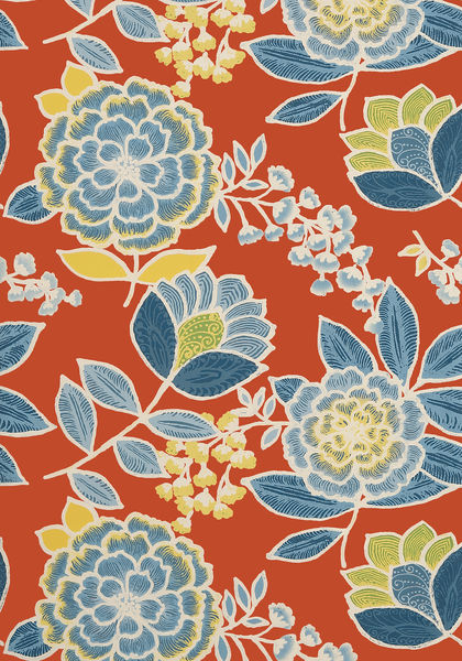 Black Velvet Damask Wallpaper Sulu Coral T13008 Collection Monterey From Thibaut