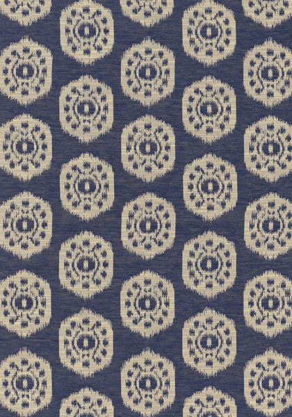Black Velvet Damask Wallpaper Circle Ikat Navy W74139 Collection Richmond From Thibaut