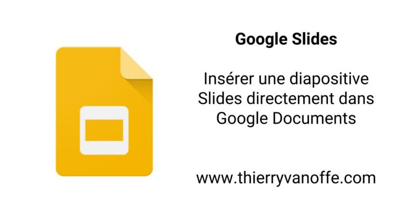 faire un cv google slides