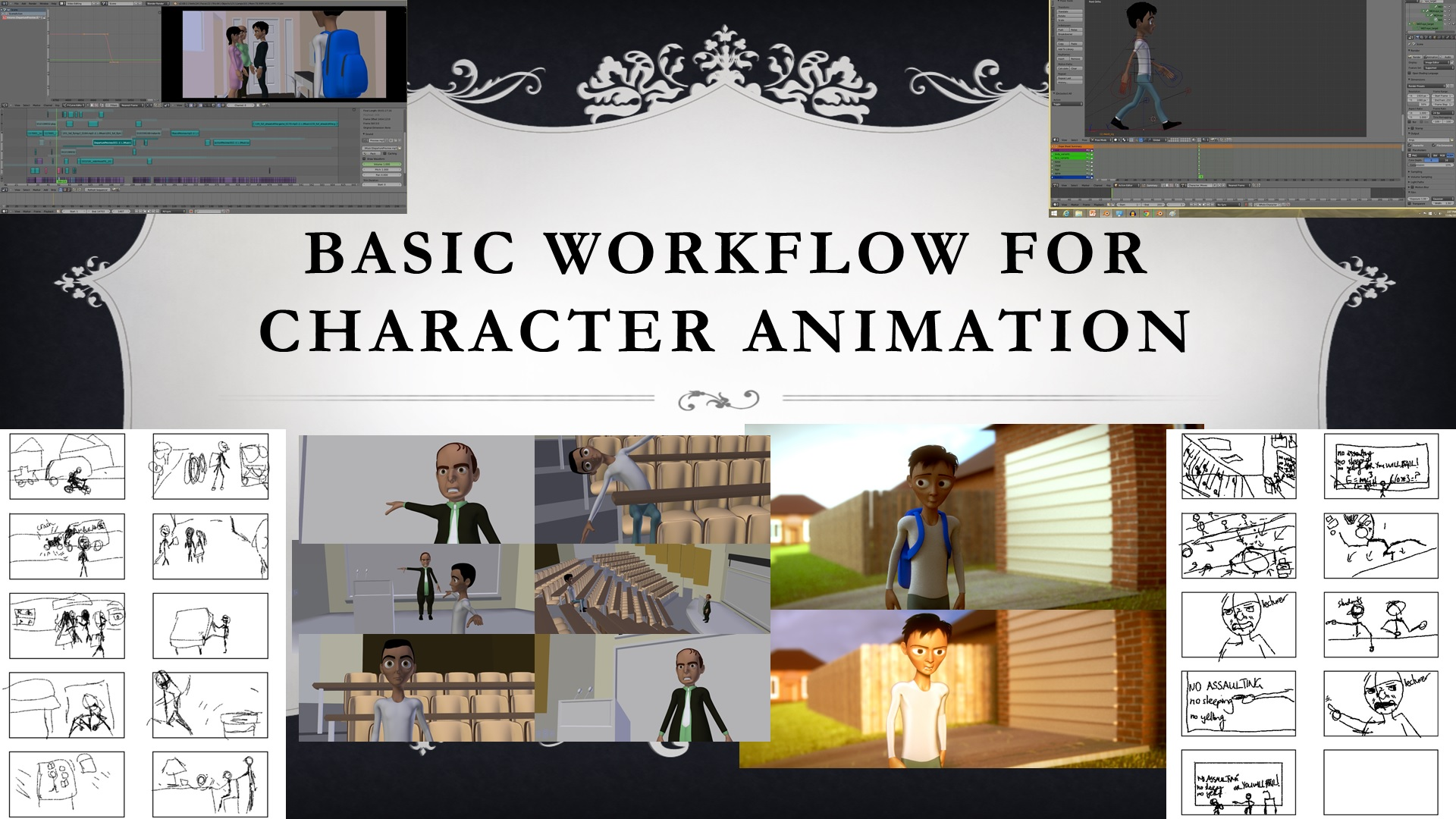 Blender Basic Workflow For Character Animation Blender Animation Tutorial