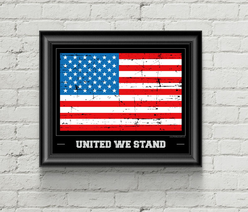 American Flag Print - United We Stand - 8\ - poster on line