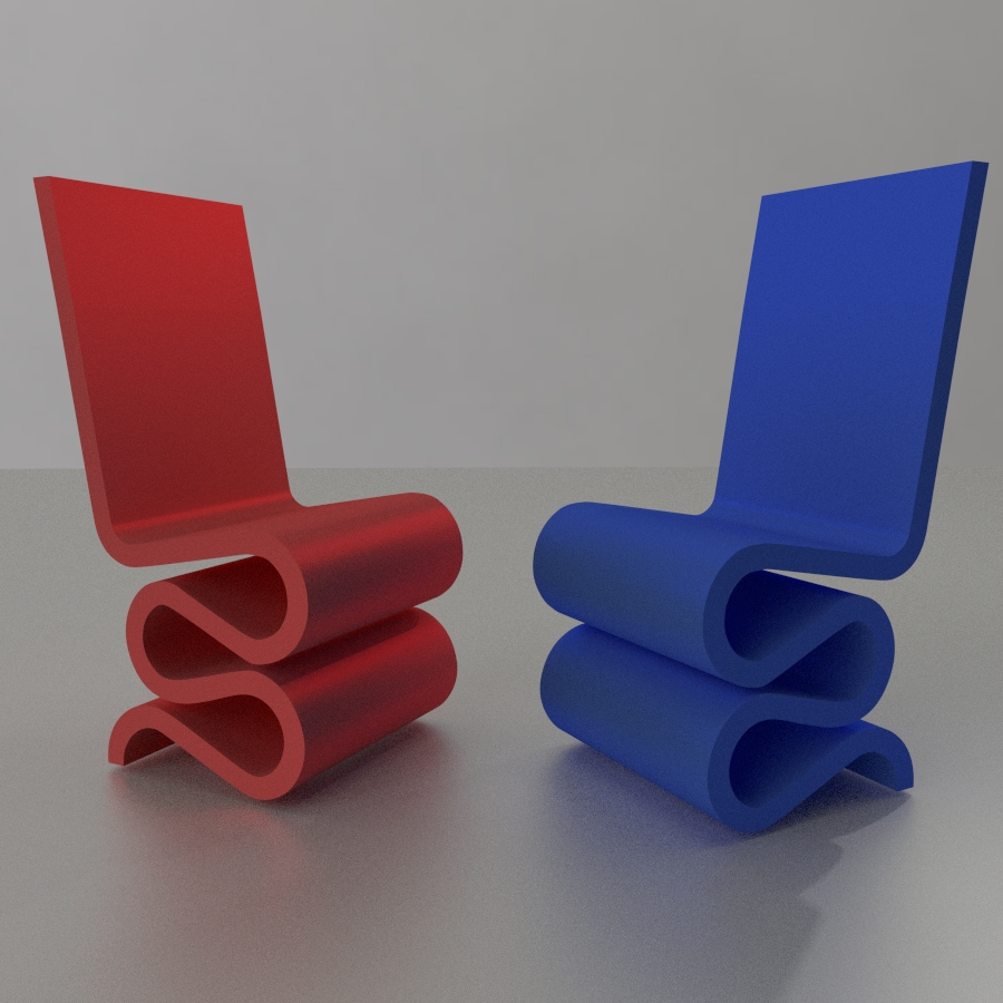 Chaise Design Miniature Chair Furniture House Miniature 1 24 Scale By Rr2s Thingiverse