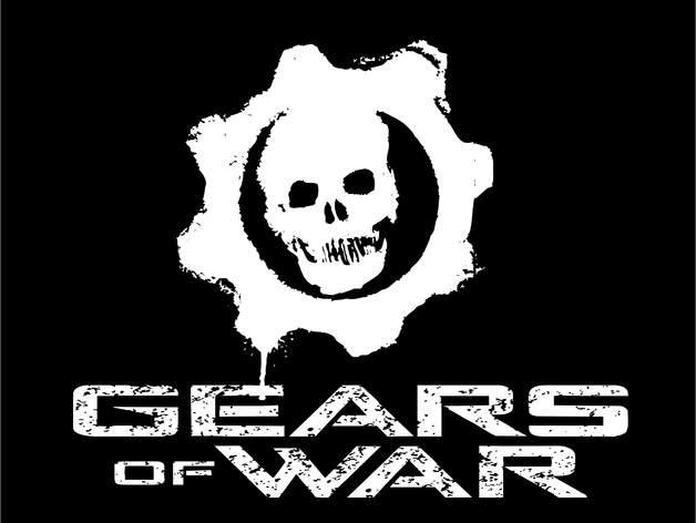 Gear Wallpaper Hd Gears Of War Logo And Text By 3080 Thingiverse