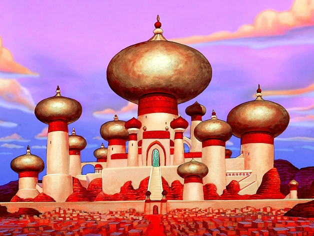 3d Wallpaper For Home Wall India The Sultan S Palace From Disney S Aladdin By