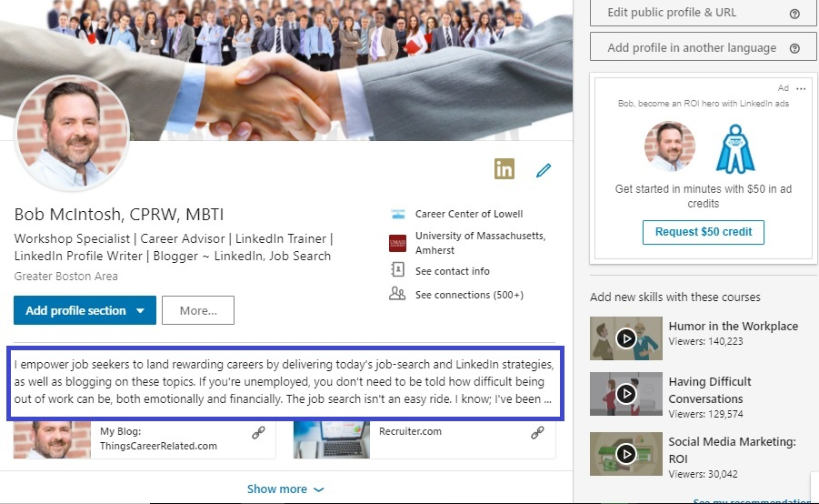 3 reasons why the LinkedIn Summary is key for career changers