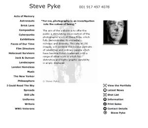 Steve Pyke - Photographer pyke-eye.com