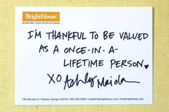 I'm thankful to be values as a once-in-a-lifetime person.