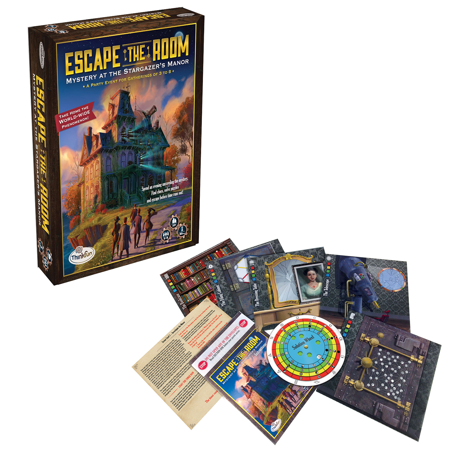 Juego De Mesa Escape Room Escape The Room Mystery At The Stargazer 39s Manor Thinkfun