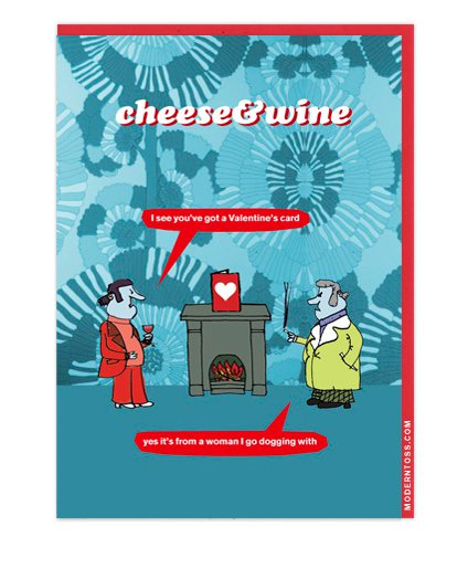 Modern Toss Card - Cheese & Wine