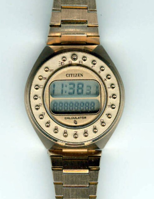 1977 Citizen Quartz 1977 Cryston Calculator Variant