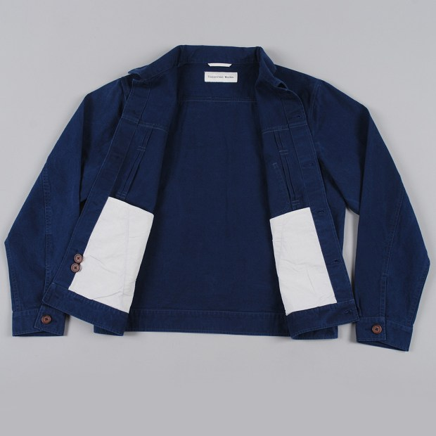 The Goodhood Store Universal Works Navy Trucker Jacket SS14