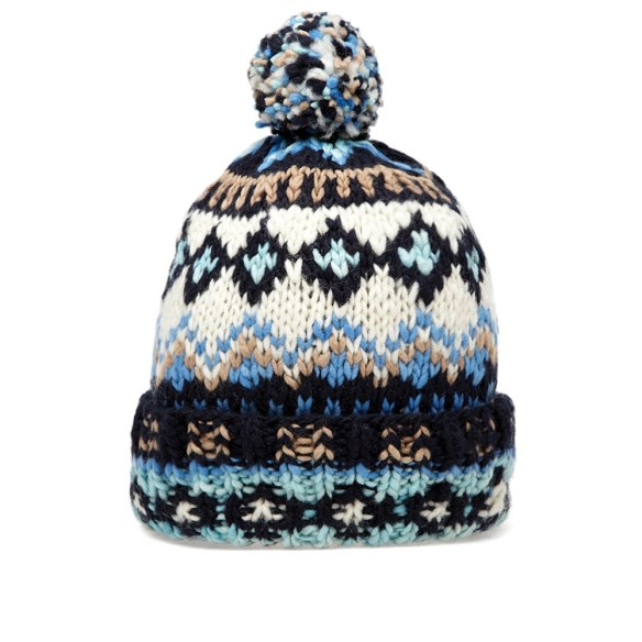 chamula knitted beanie bobble hats