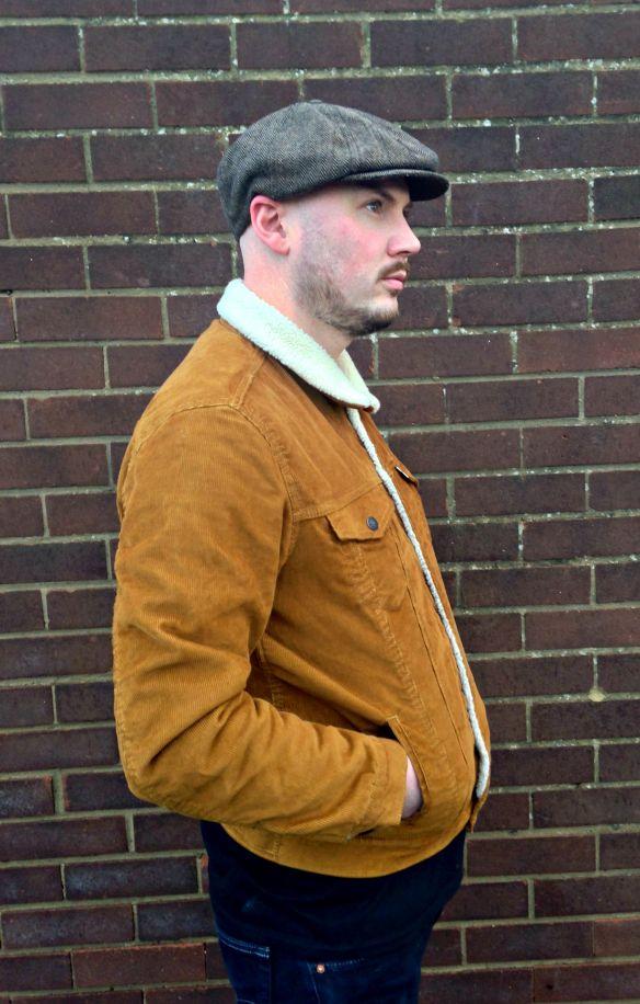 levi sherpa trucker jacket brown cord