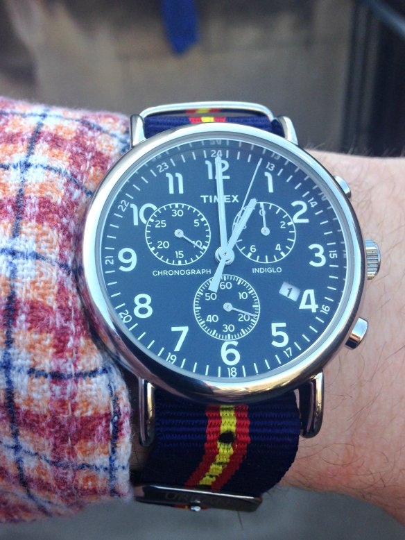 Timex Weekender Oversized Chronograph Watch