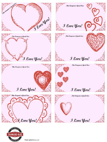 Show Your Love with Printable Valentine\u0027s Coupons