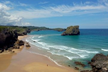 One of the many gorgeous beaches in the Asturias