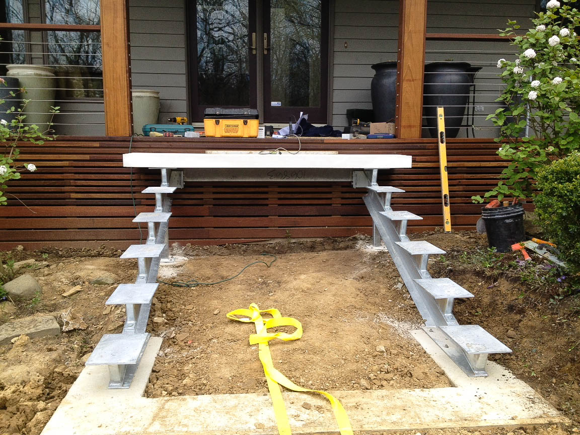 How To Build Floating Stairs My Work Floating Stairs Thinking Outside The Boxwood