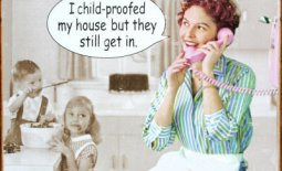 free retro humor image_child proof