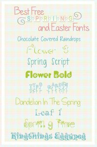 best easter and spring fonts