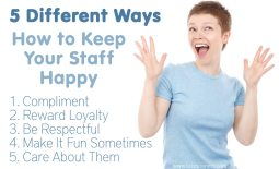 5 Different Ways To Keep Your Staff Happy