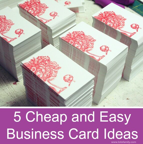 5 cheap and easy business card ideas o thinking outside for How many business cards should i order