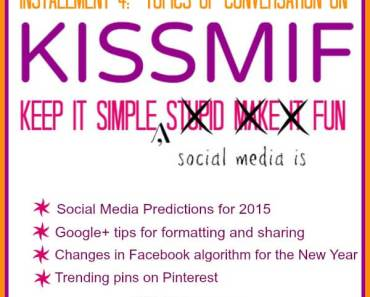 Social Media predictions for 2015 and tips for Google+, Facebook, and Pinterest.