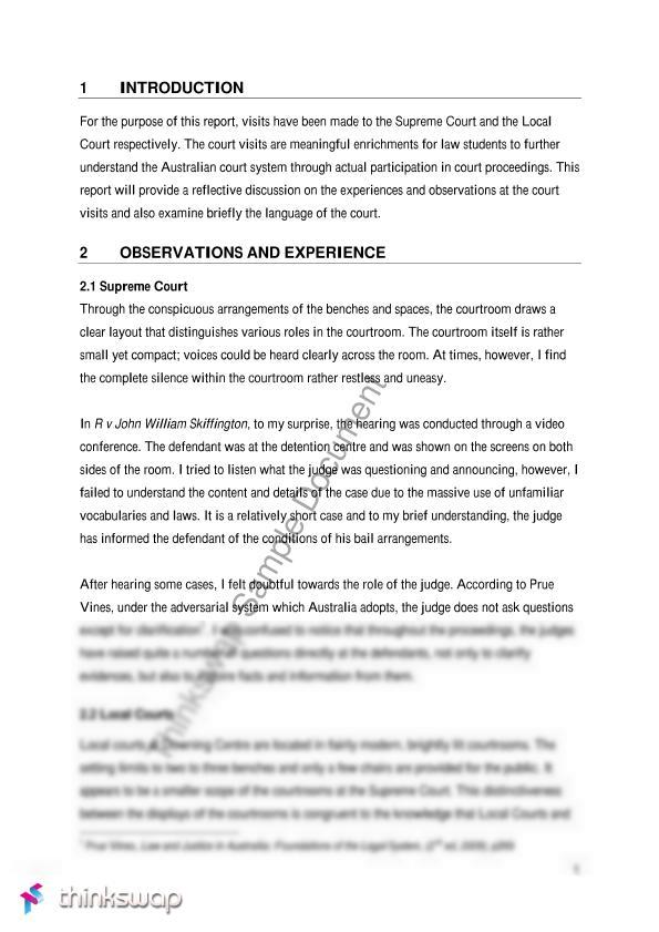 Law Essay Sample Pdf  Professional Essay Writers You Study