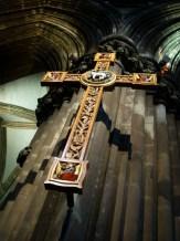 A cross in church