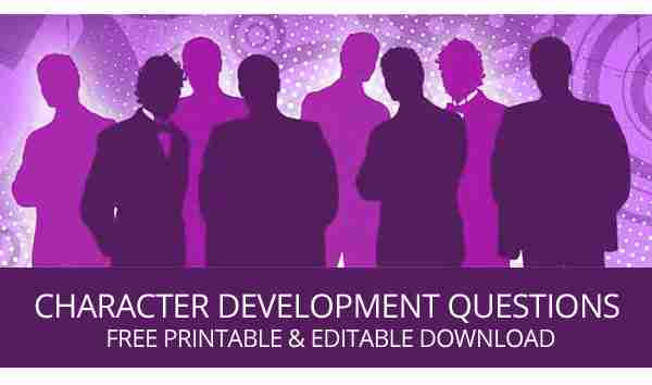 Character Development Questions  Free Printable Worksheets