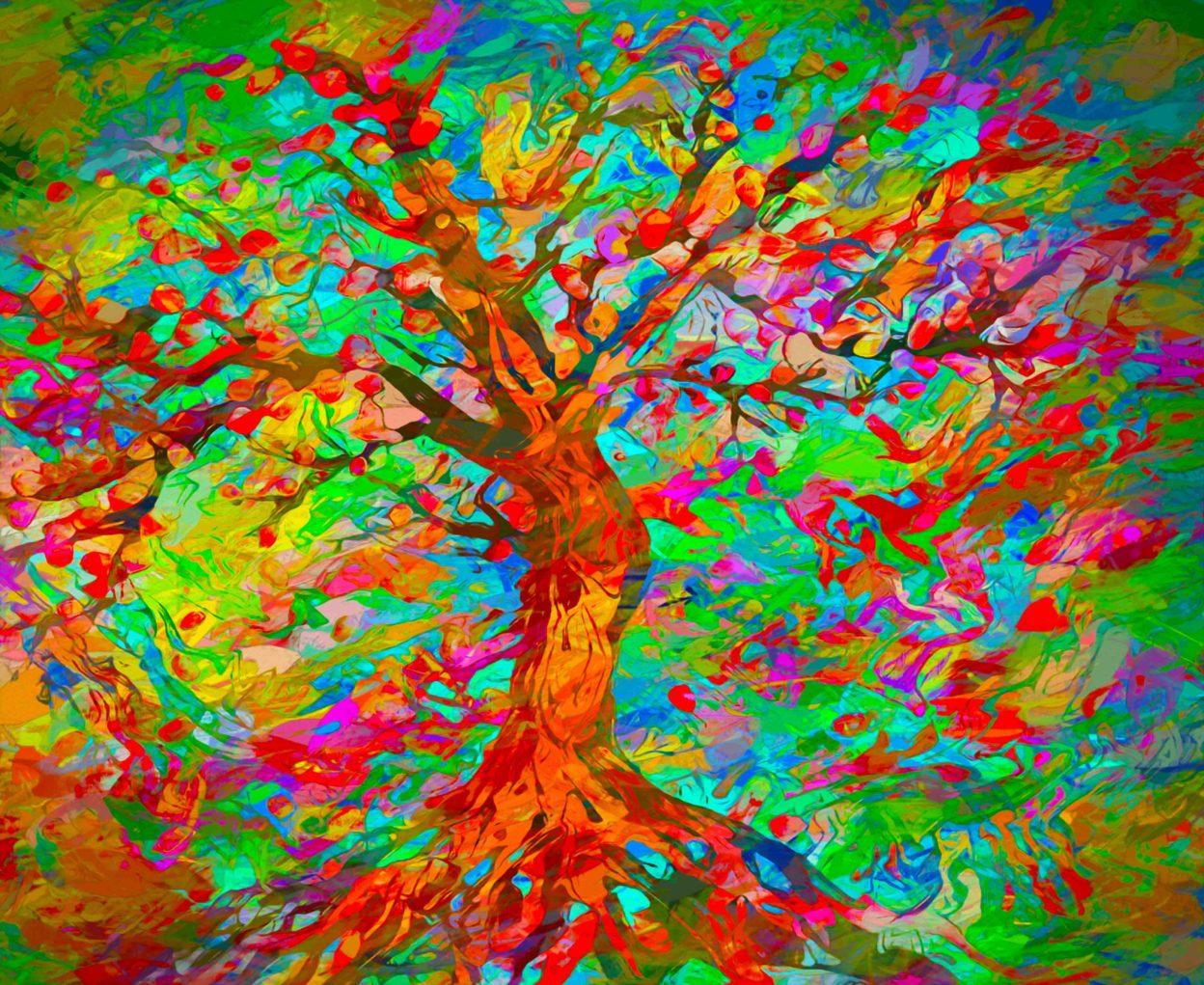 Fall Sunshine Wallpaper Bright Colorful Art Www Pixshark Com Images Galleries