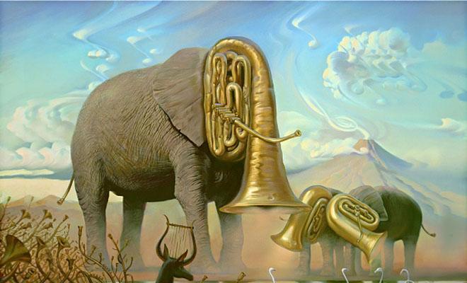 Lion Animal Wallpaper Surreal Reality Distortion Paintings Vladimir Kush Art