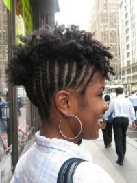 cornrows with natural hair mohawk - thirstyroots.com ...