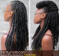 kinky twists and braids