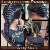 Fishtail Braid With Fake Hair  Triple Weft Hair Extensions