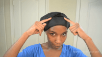 How To Secure Satin Scarves for Natural Hair (with pictures)