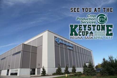 This is for the upcoming Keystone Cup in Regina, it highlights the venue and dates of the event.