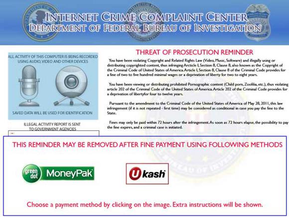 Internet Crime Complaint Center Department of Federal Bureau of Investigation Virus