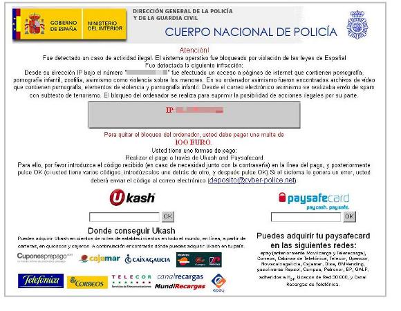 Direccion General De La Policia Y De La Guardia Civil - Cuerpo Nacional De Policia Virus