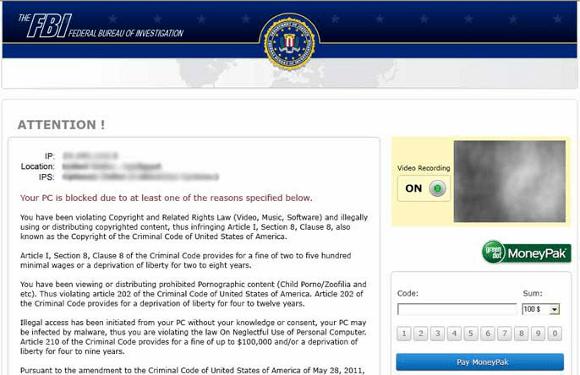 FBI Federal Bureau of Investigation Virus
