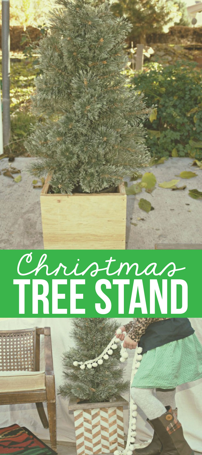 How To Make Your Own Tree Stand Christmas Tree Stand Slipcover
