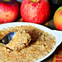 Overnight Apples & Cinnamon Oatmeal Recipe