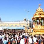 LORD RIDES ON SWARNA RATHAM ON IIND DAY OF VASANTHOTSAVAM