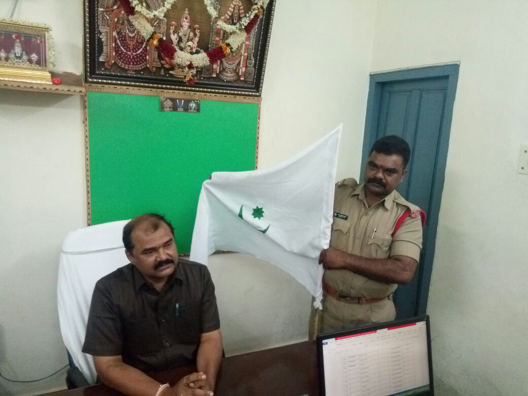 Islamic flag stirs controversy in Tirumala.