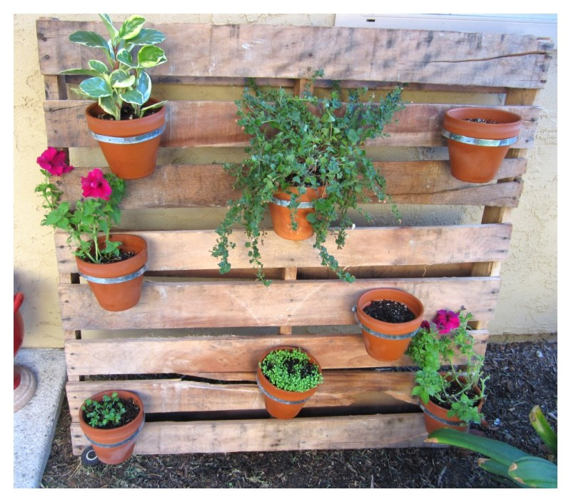 Large Of Diy Pallet Herb Garden