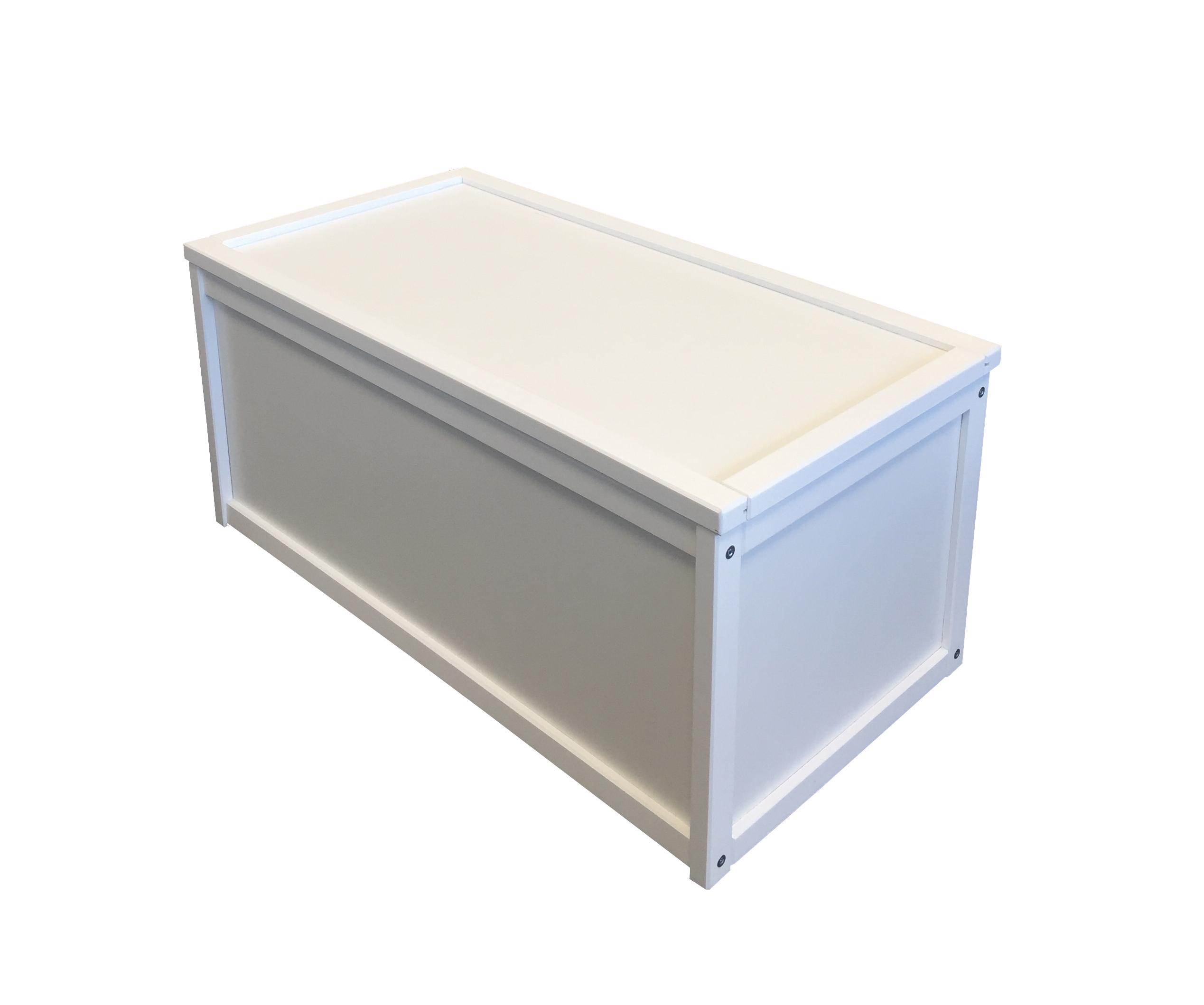 New White Wooden Toy Box Storage Unit Childrens Kids Chest