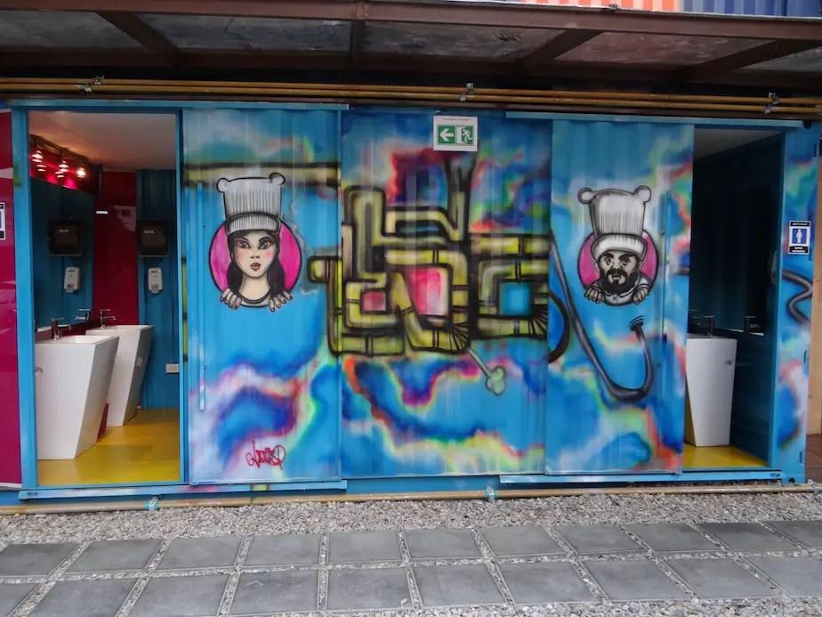 Container City bathrooms PCORREDOR